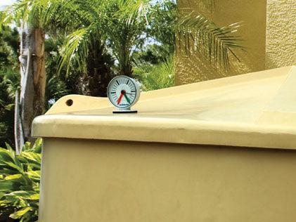 Tank gauge in place